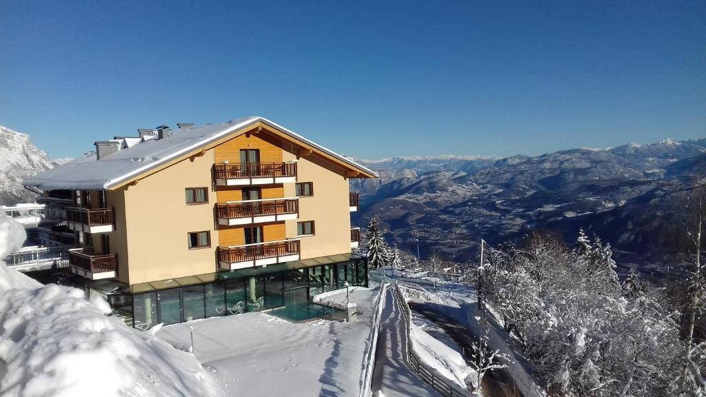 Hotel Monte Bondone during the winter