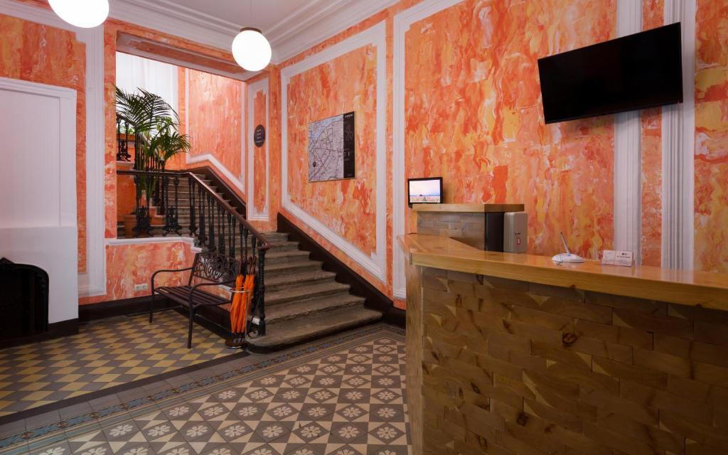 Лобби или стойка регистрации в Station Hotel S13
