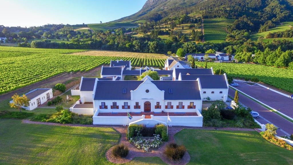 A bird's-eye view of Zorgvliet Wines Country Lodge