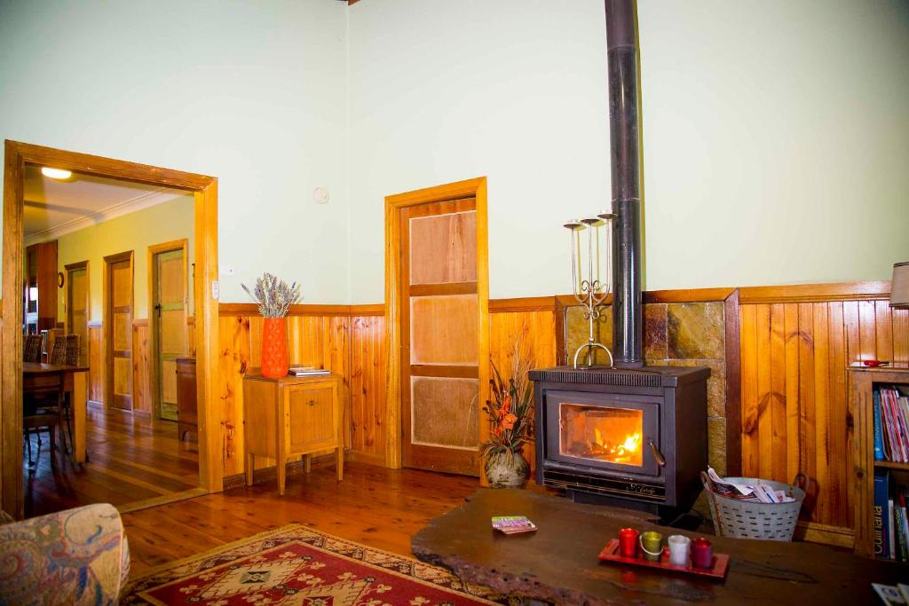 A television and/or entertainment center at Red Tractor Retreat