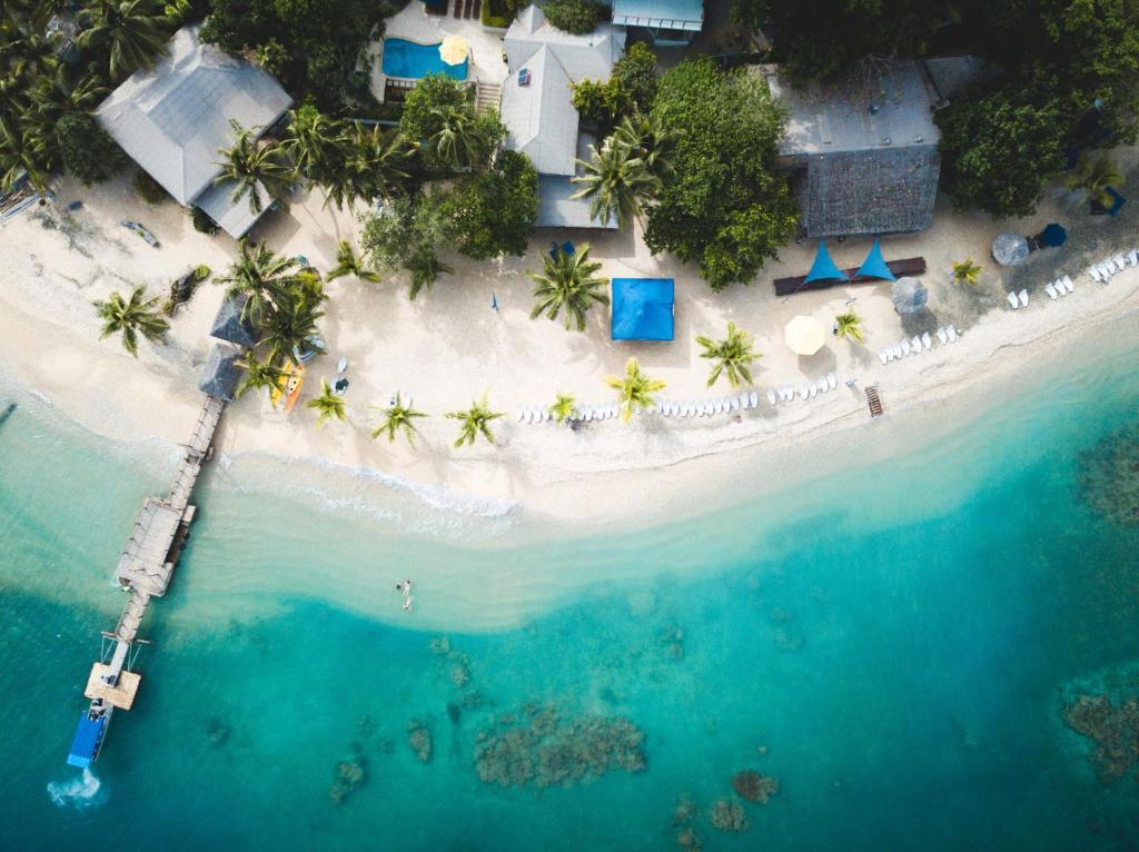 A bird's-eye view of Hideaway Island Resort