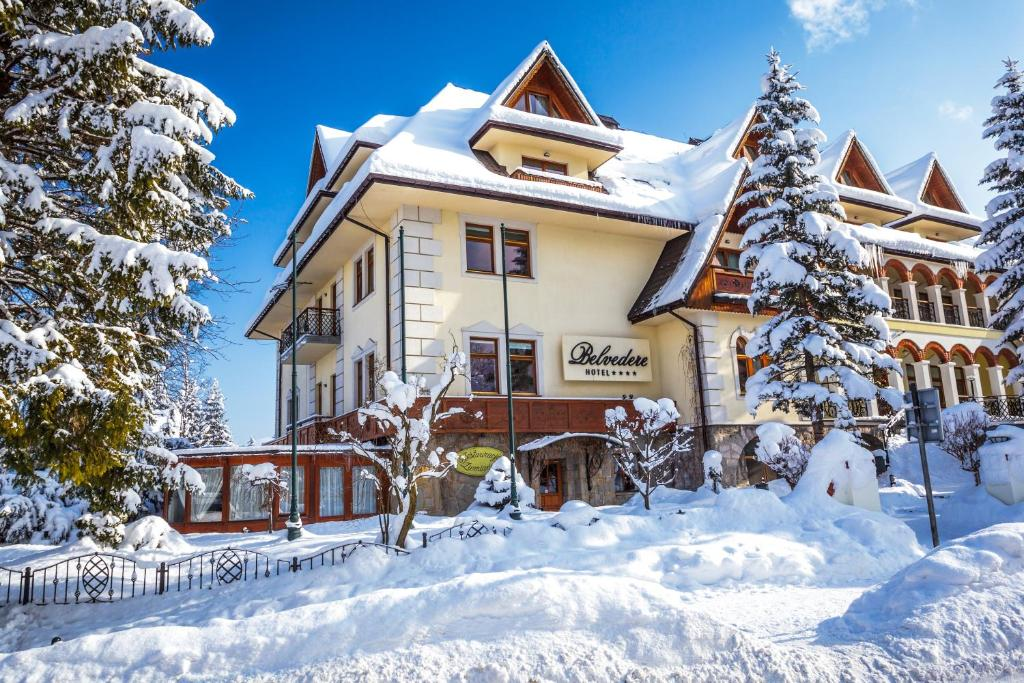 Hotel Belvedere during the winter