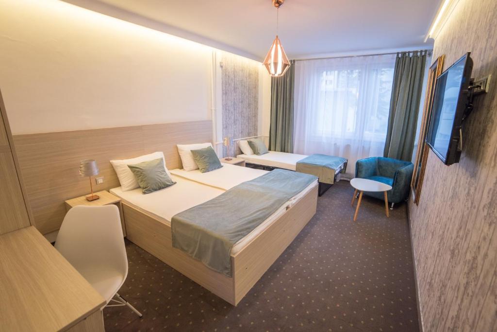 Krevet ili kreveti u jedinici u okviru objekta Hotel Tehnograd