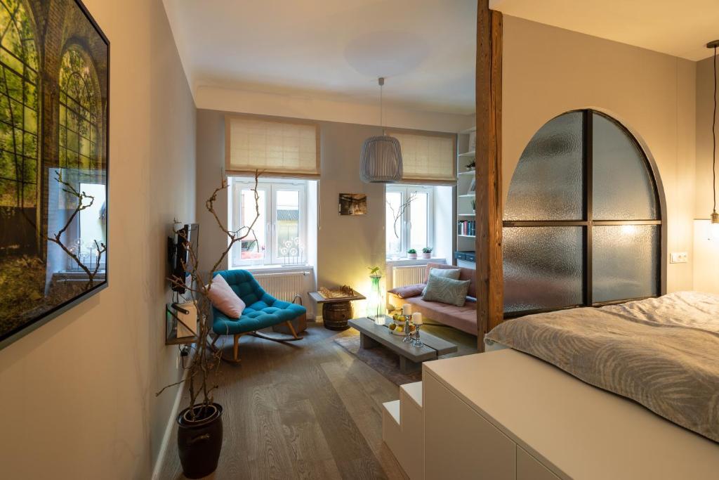 Sjónvarps- og/eða afþreyingartæki á Apartment Vienna. Your second home abroad