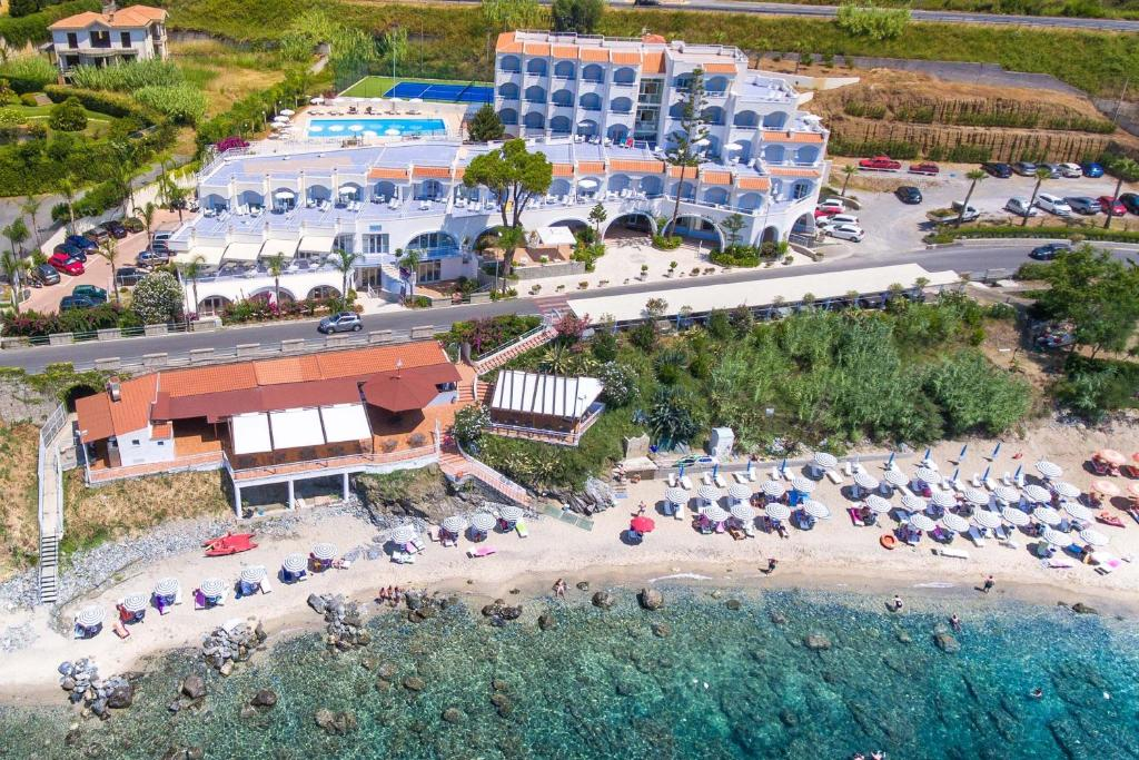 A bird's-eye view of Hotel Ferretti