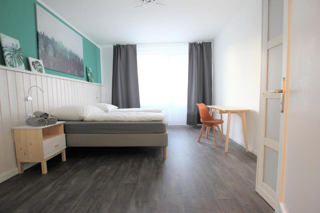Lova arba lovos apgyvendinimo įstaigoje Centrally located 2-room apartment