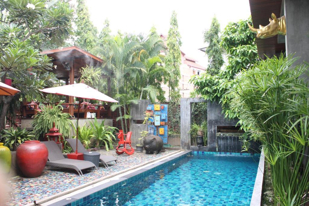 塔帕別墅酒店游泳池或附近泳池