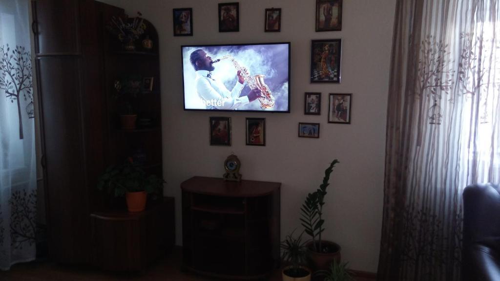 Телевизор и/или развлекательный центр в Apartment on Ulitsa Gogolya