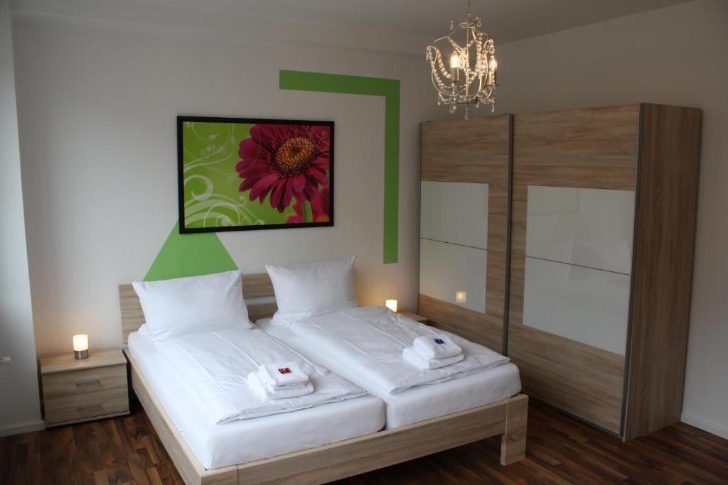 Un ou plusieurs lits dans un hébergement de l'établissement Apartments Schöneberg