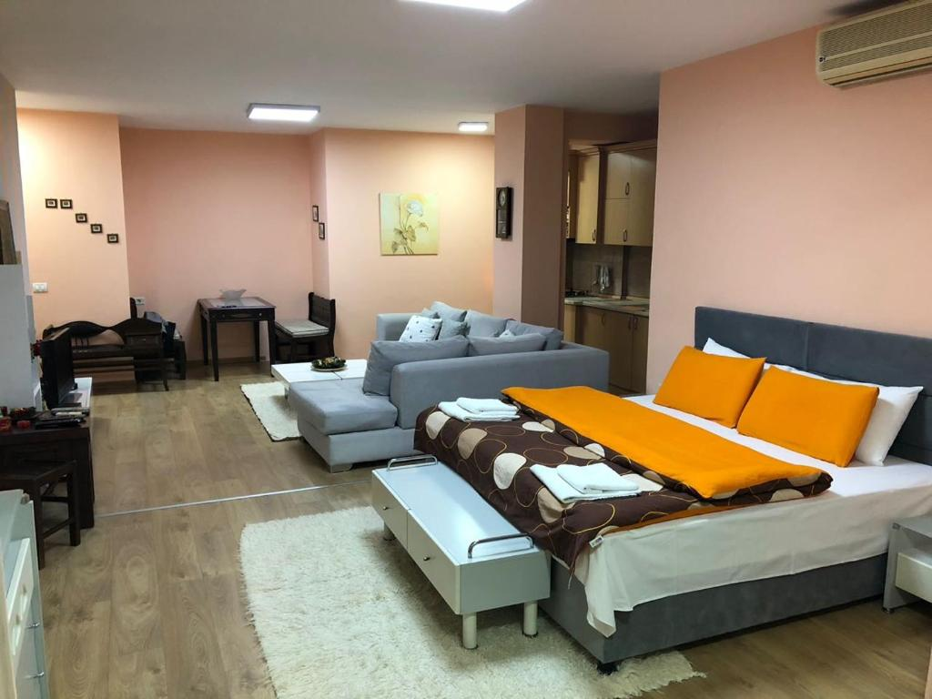 A seating area at Apartment in Tirana