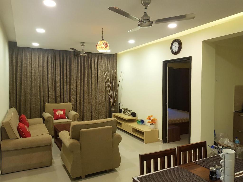 A seating area at Areia De Goa Arpora