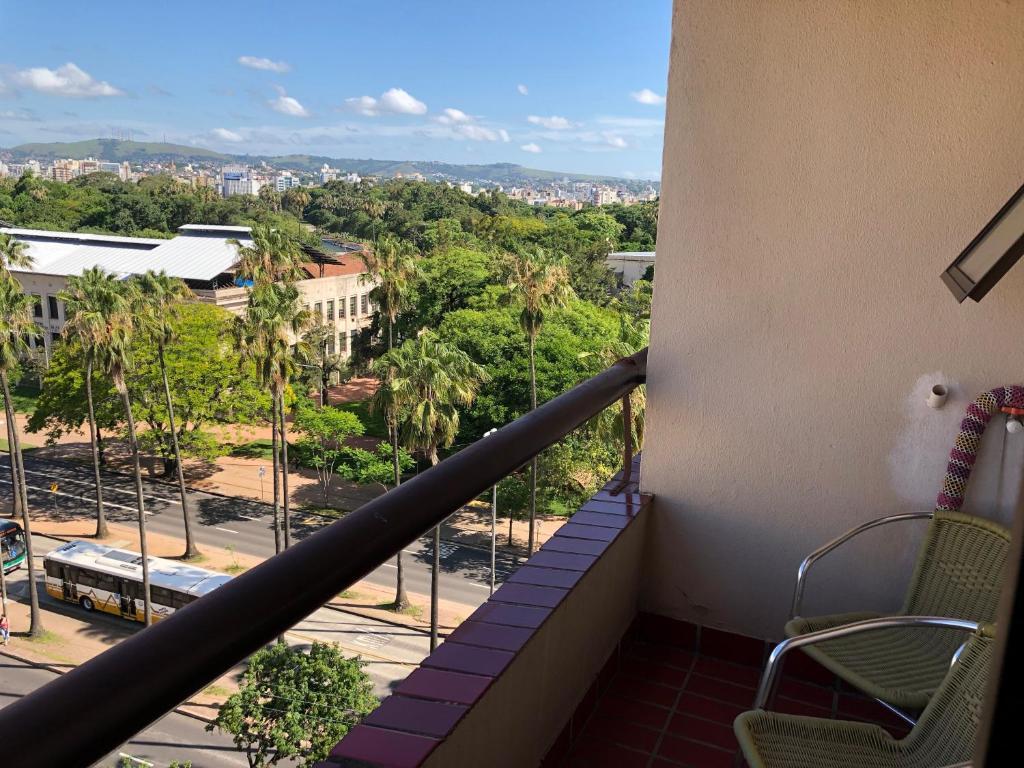 A balcony or terrace at Manhattan Apart Hotel