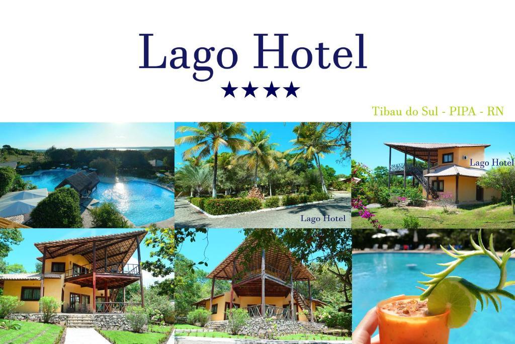 Uma vista da piscina em Lago Hotel ou nos arredores