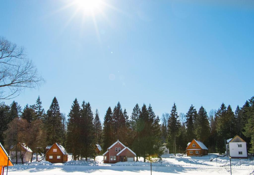 Lesnaya Skazka Hotel during the winter