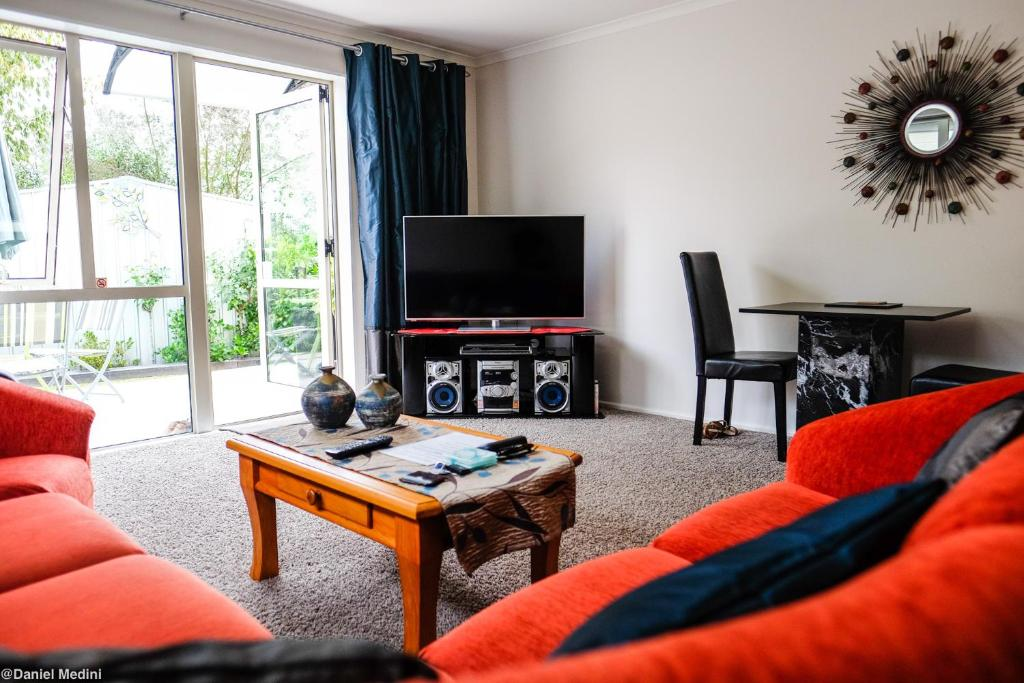 A television and/or entertainment center at Highview Drive Apartment