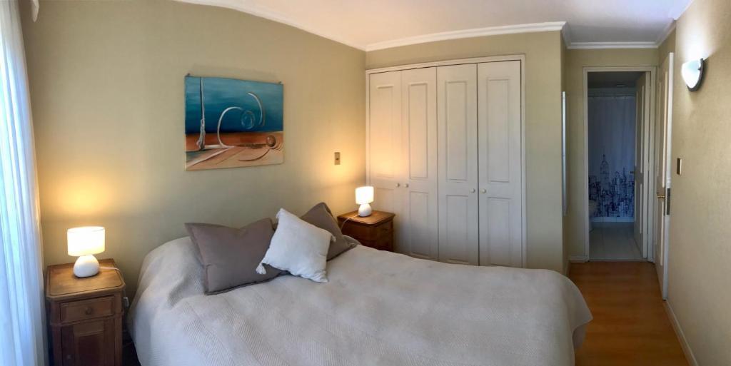 Cama o camas de una habitación en Departamento Augusto Leguia 98
