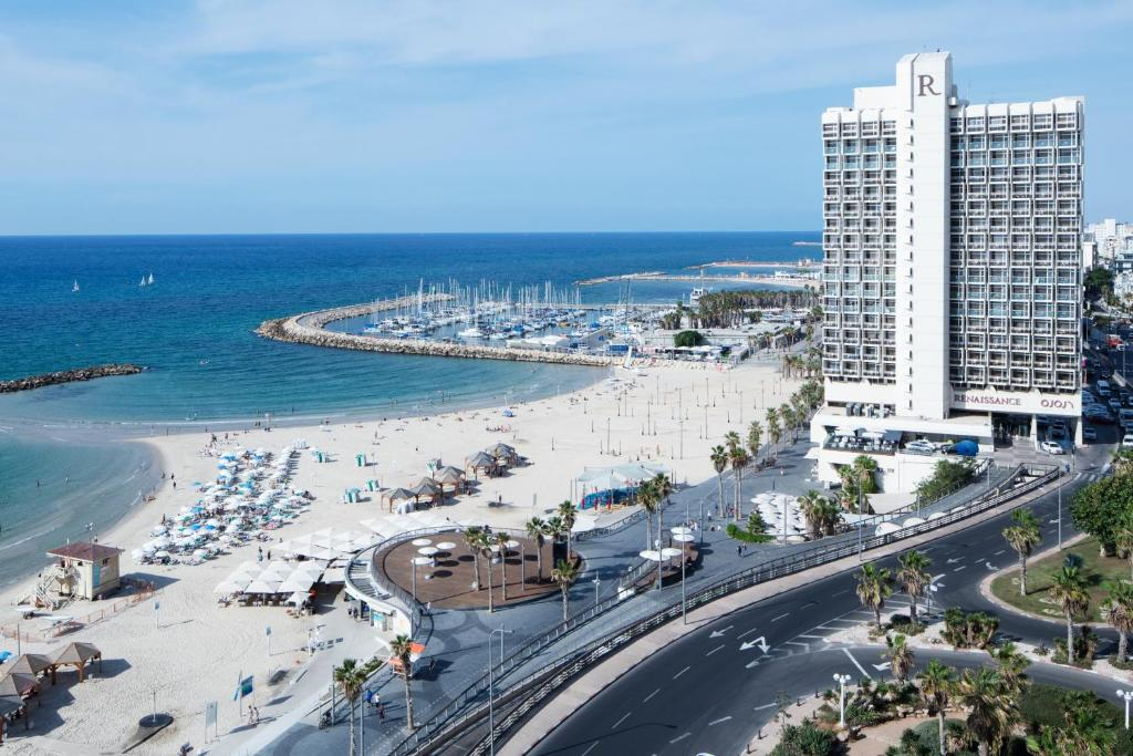 A bird's-eye view of Renaissance Tel Aviv Hotel
