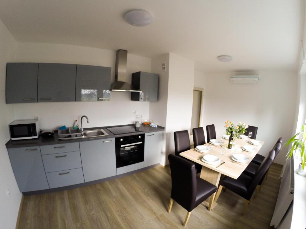 Кухня или мини-кухня в Apartments&Rooms Andrej