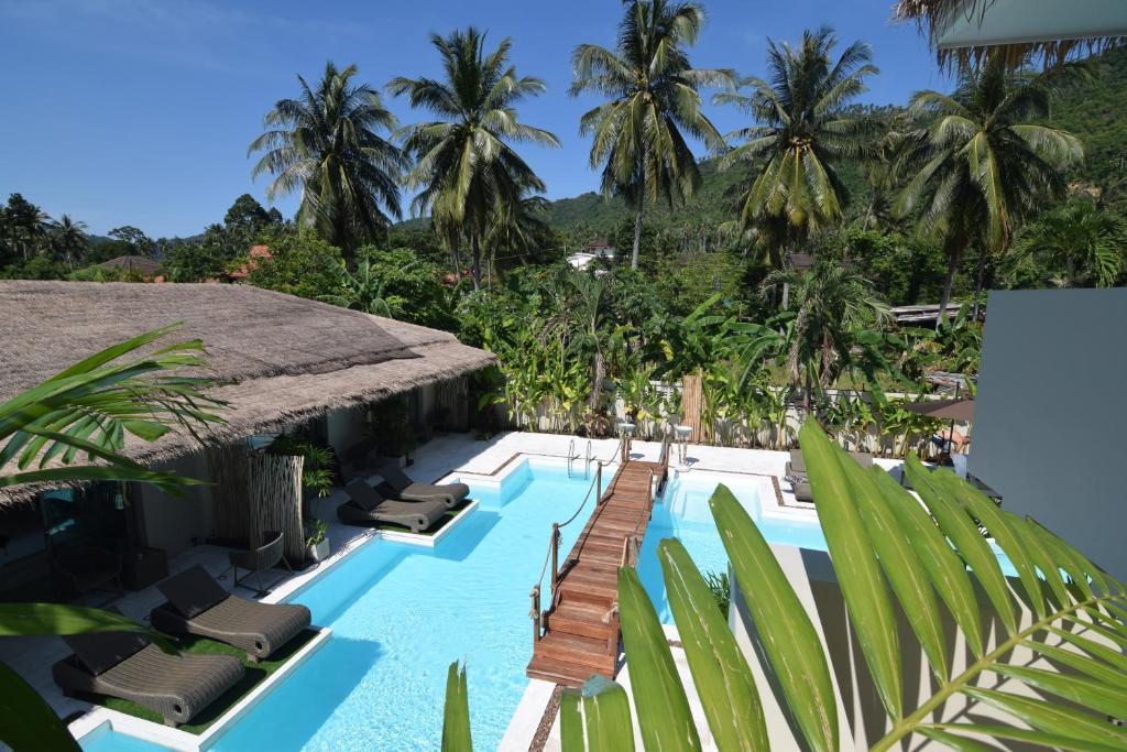 Výhled na bazén z ubytování AMAYA Resort nebo okolí