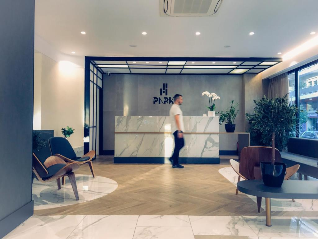 The lobby or reception area at Hotel Park