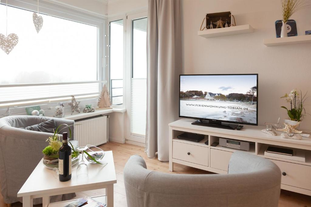 TV/Unterhaltungsangebot in der Unterkunft Ferienwohnungen Tobian