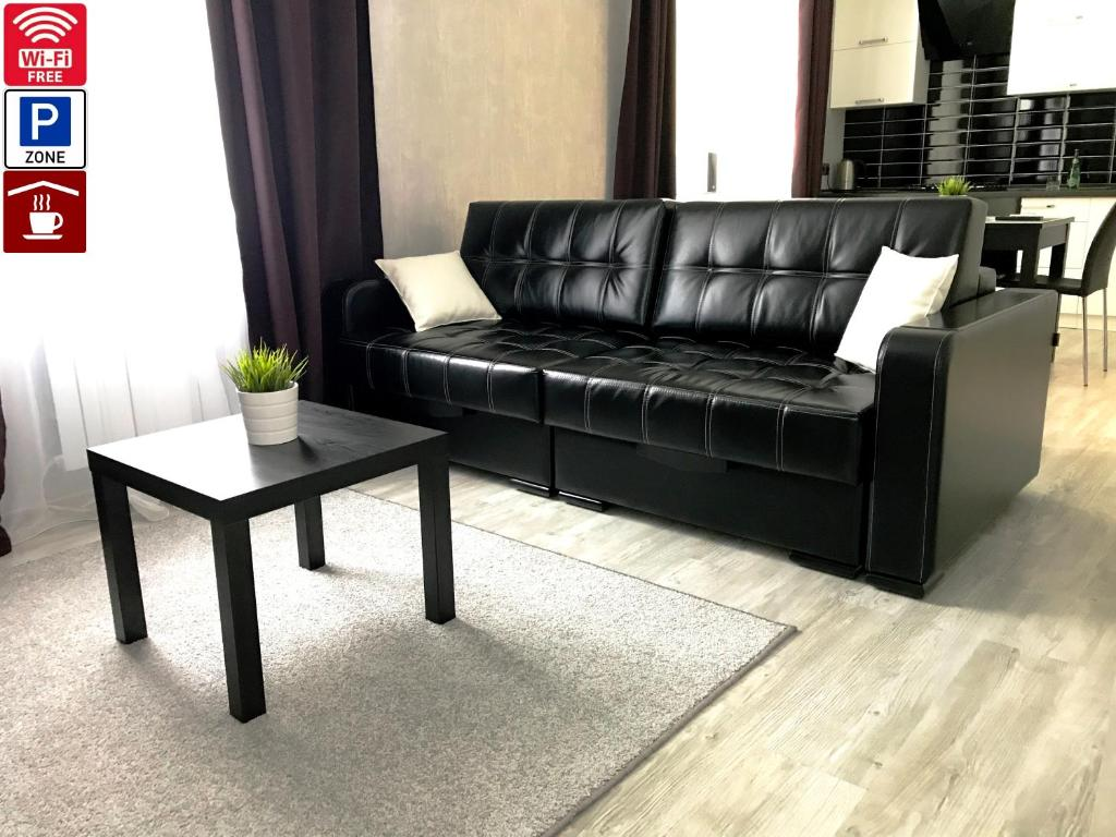A seating area at Lux Apartment Penza Centr