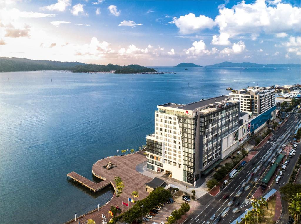A bird's-eye view of Kota Kinabalu Marriott Hotel
