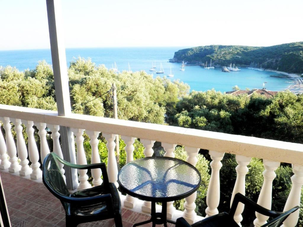 A balcony or terrace at Kanali Village Parga