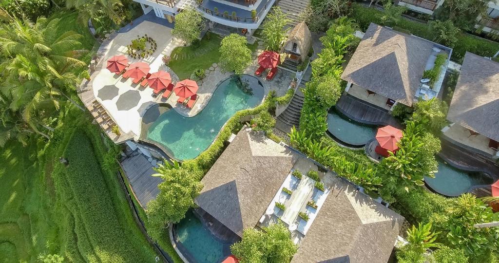A bird's-eye view of Puri Sebali Resort