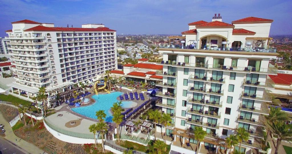 A view of the pool at The Waterfront Beach Resort, A Hilton Hotel or nearby