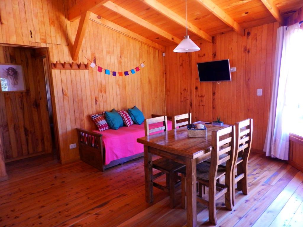 Área para comer en el chalet de montaña