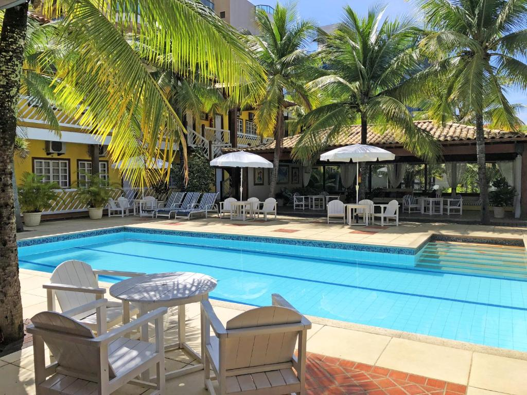 The swimming pool at or near Hotel Mar de Cabo Frio