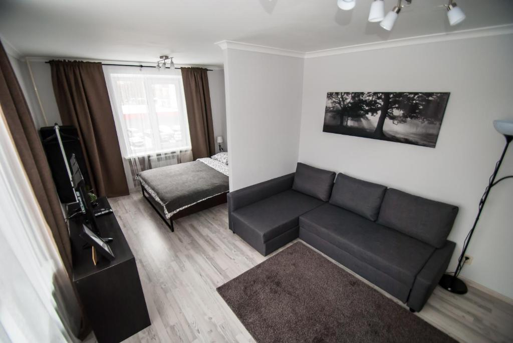 A seating area at Apartment on Bolshaya Vnukovskaya