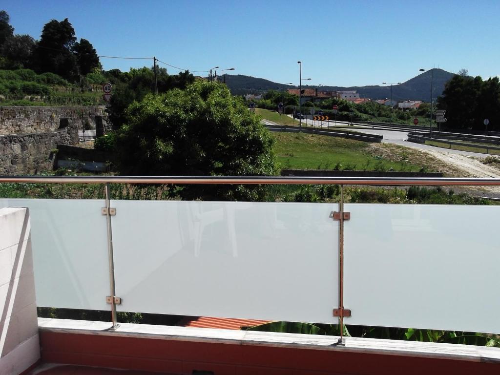 A balcony or terrace at Hotel Minho Belo
