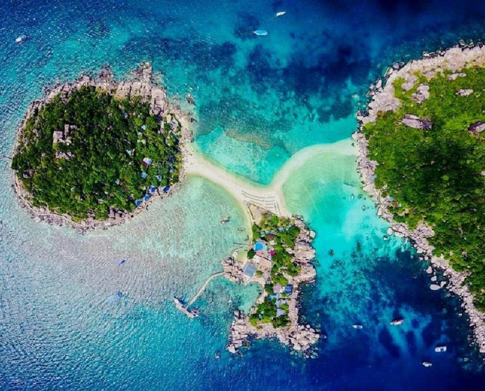 A bird's-eye view of Nangyuan Island Dive Resort