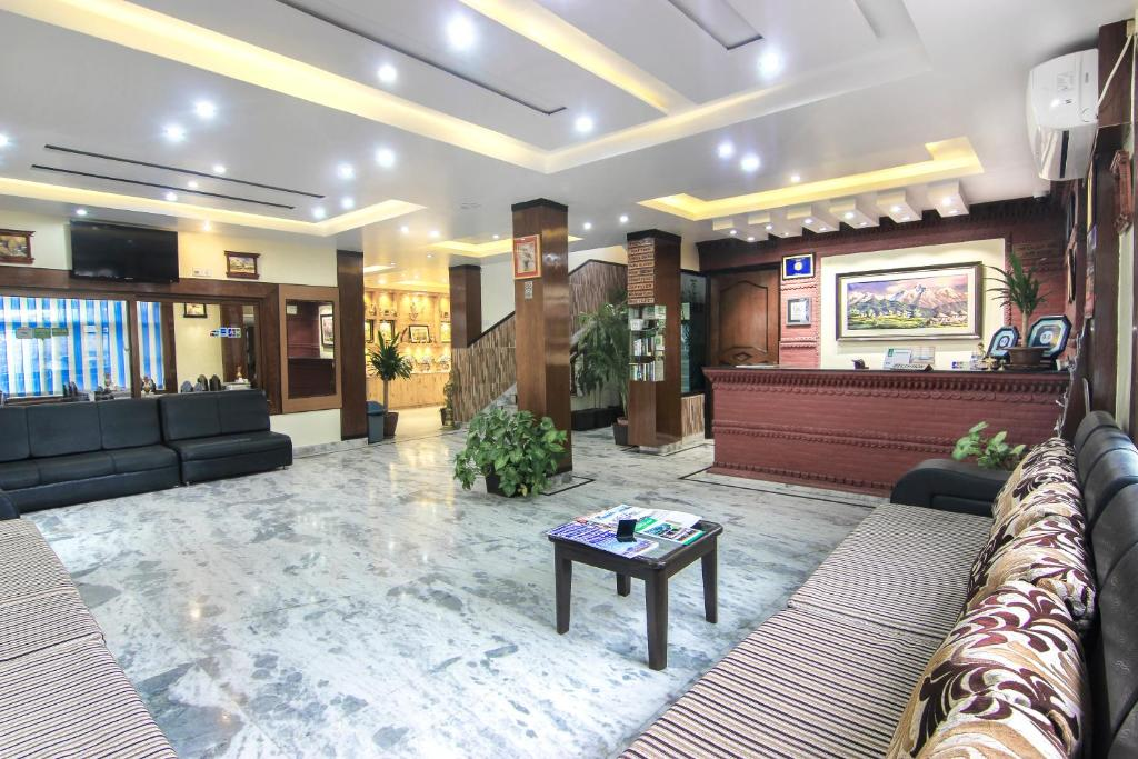 The lobby or reception area at Hotel Point