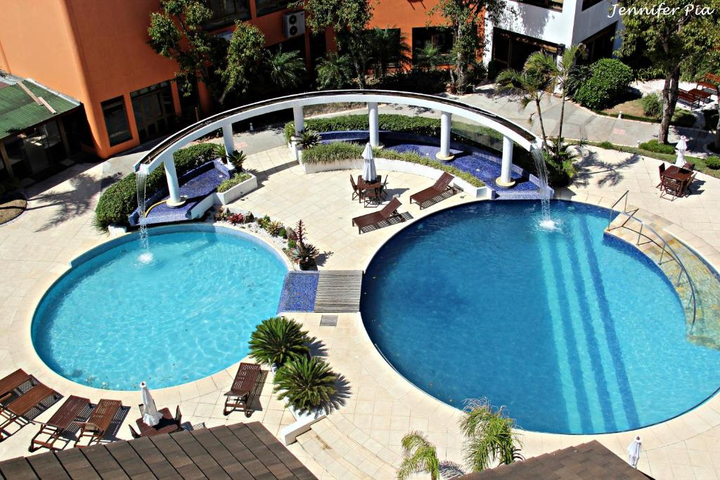 A view of the pool at Guarita Park Hotel or nearby