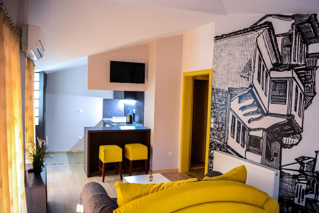 A television and/or entertainment centre at Di Angolo Apartments