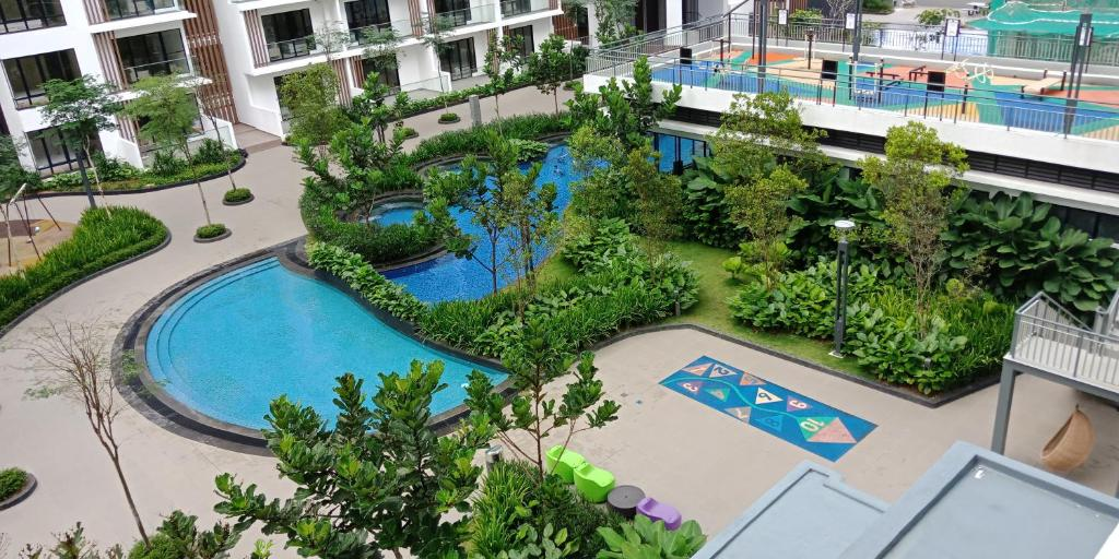 A view of the pool at T2-08-01 Midhill at Genting or nearby
