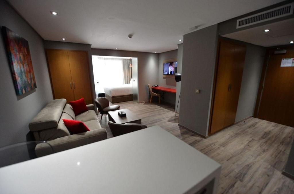 Posezení v ubytování Le 22 Appart'Hotel