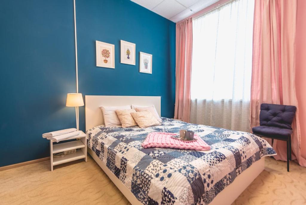 Кровать или кровати в номере Story Hostel