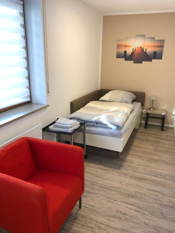 A bed or beds in a room at Apartment Siemens Campus