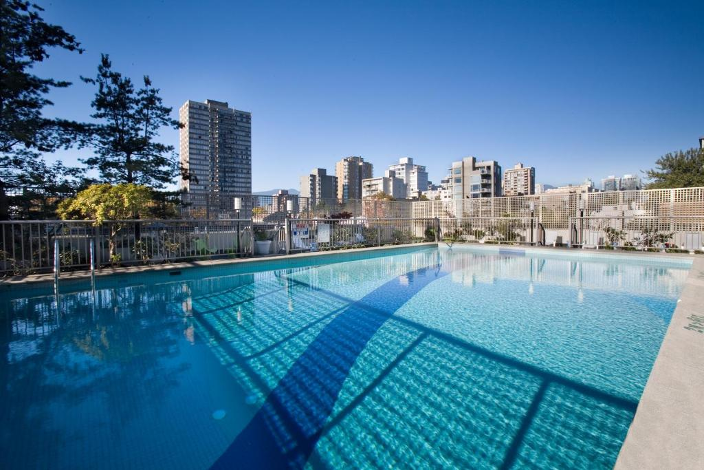 The swimming pool at or near Sandman Suites Vancouver on Davie
