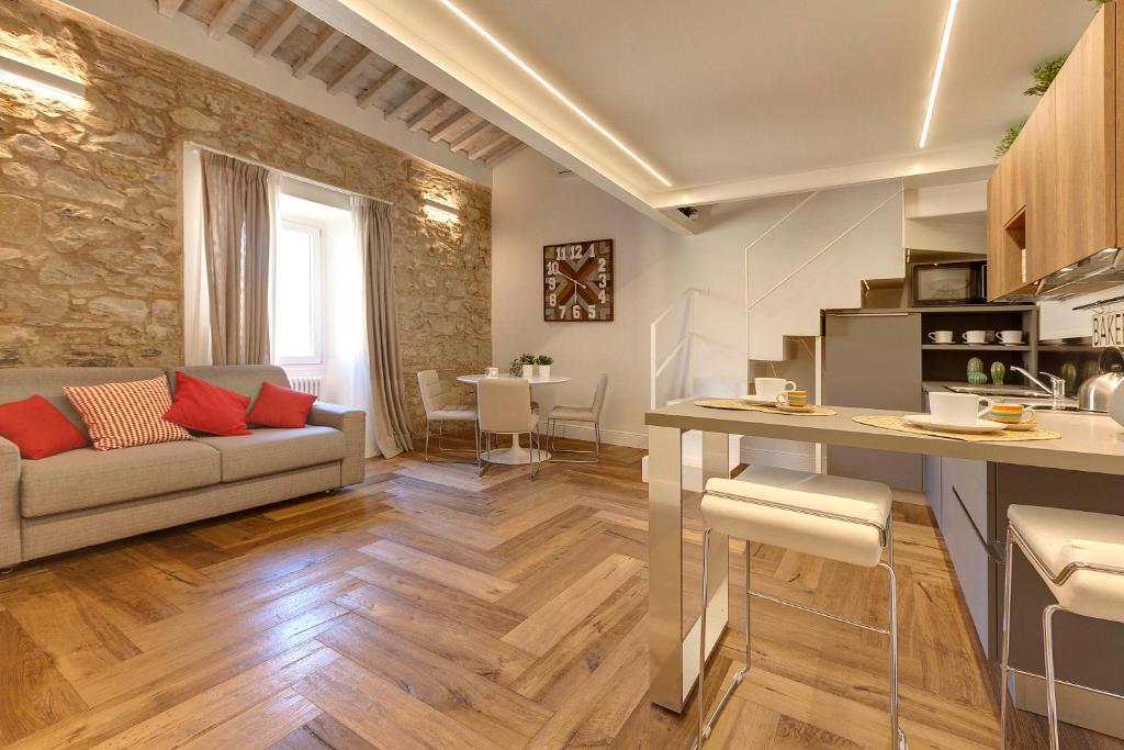 Een zitgedeelte bij Mattonaia Apartment