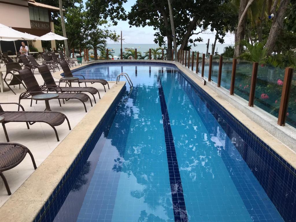Bazén v ubytování Porto Praia do Forte nebo v jeho okolí