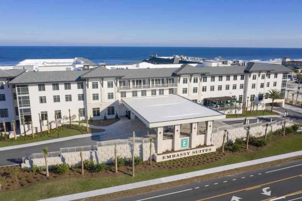 A bird's-eye view of Embassy Suites St Augustine Beach Oceanfront Resort