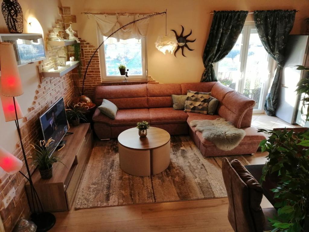 O zonă de relaxare la Apartment Saby