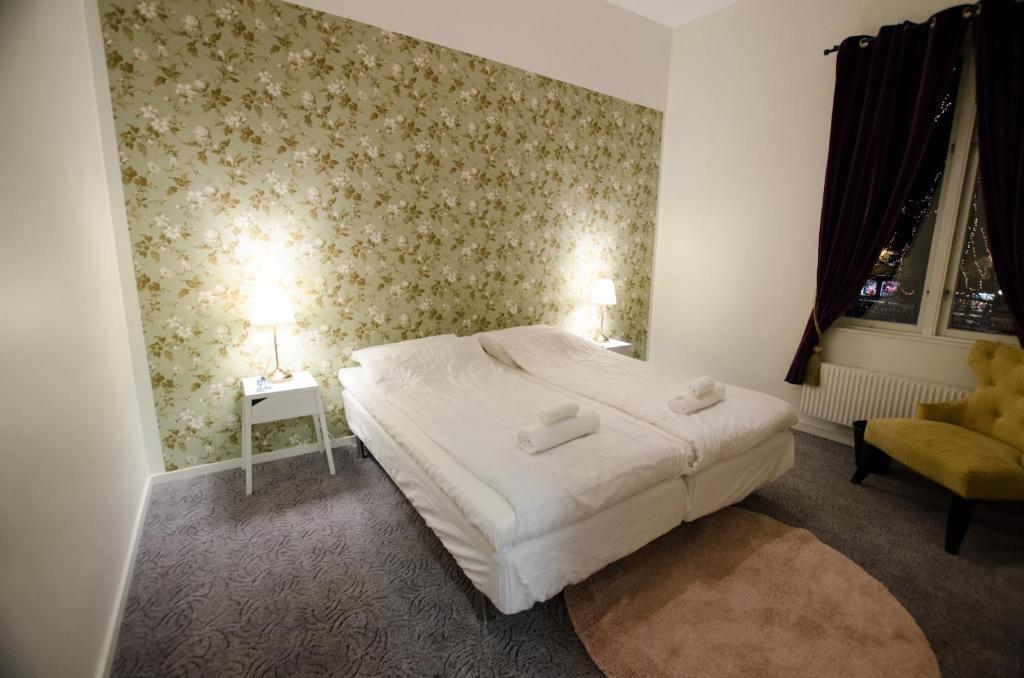 A bed or beds in a room at Hostel Fyristorg