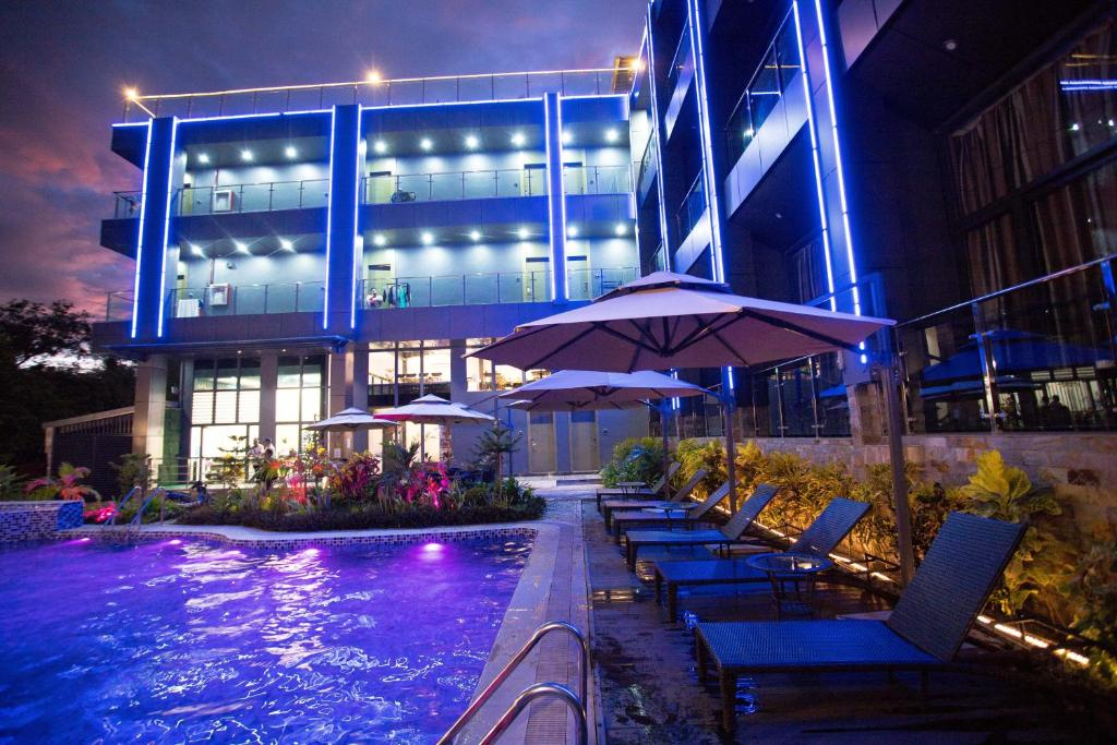 The swimming pool at or near Vienna Hotel