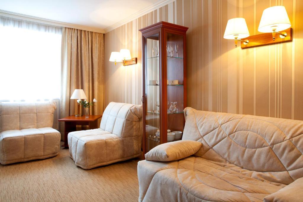 Гостиная зона в Гостиница Кристалл